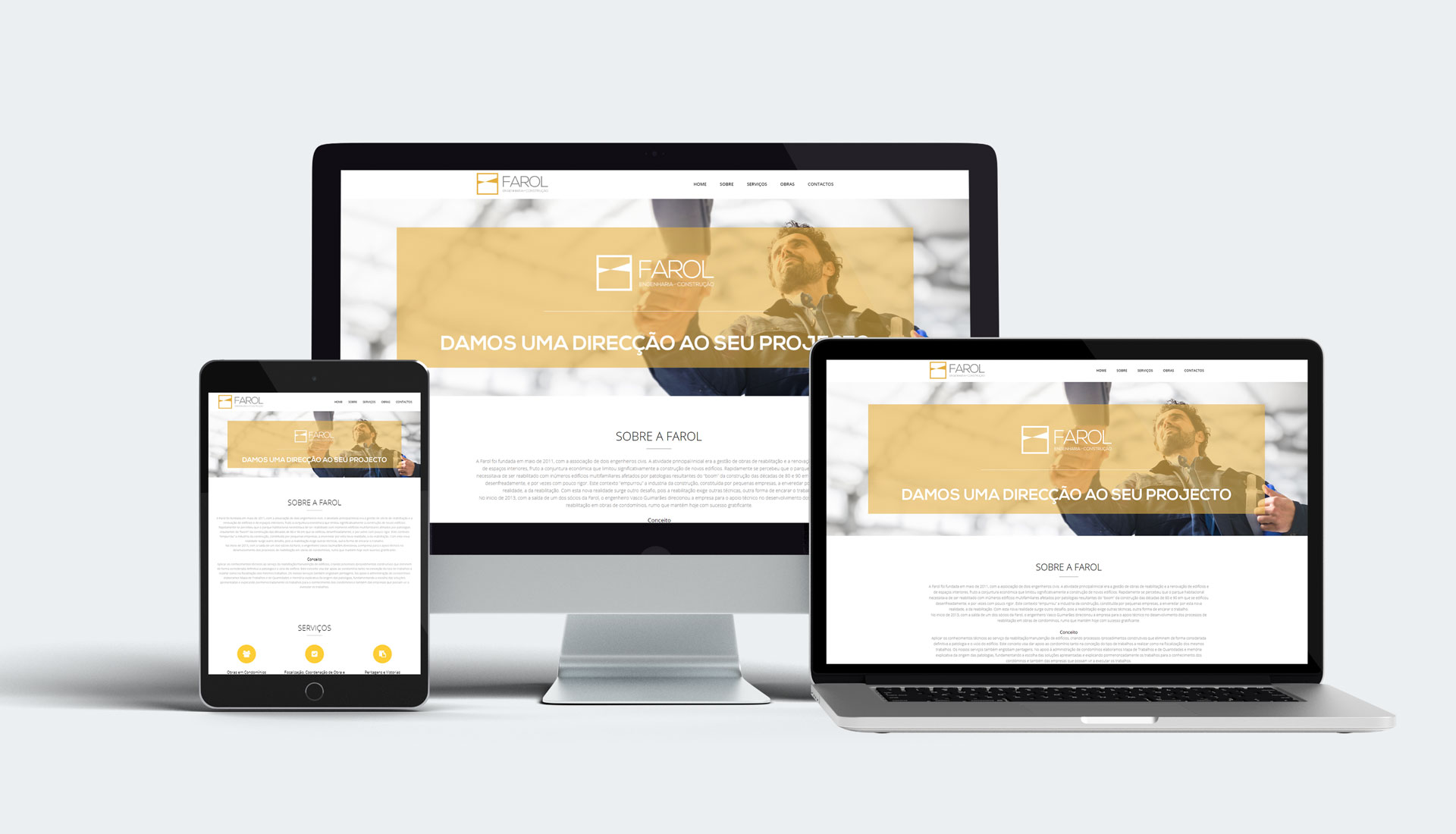 webdesign website farol engenharia