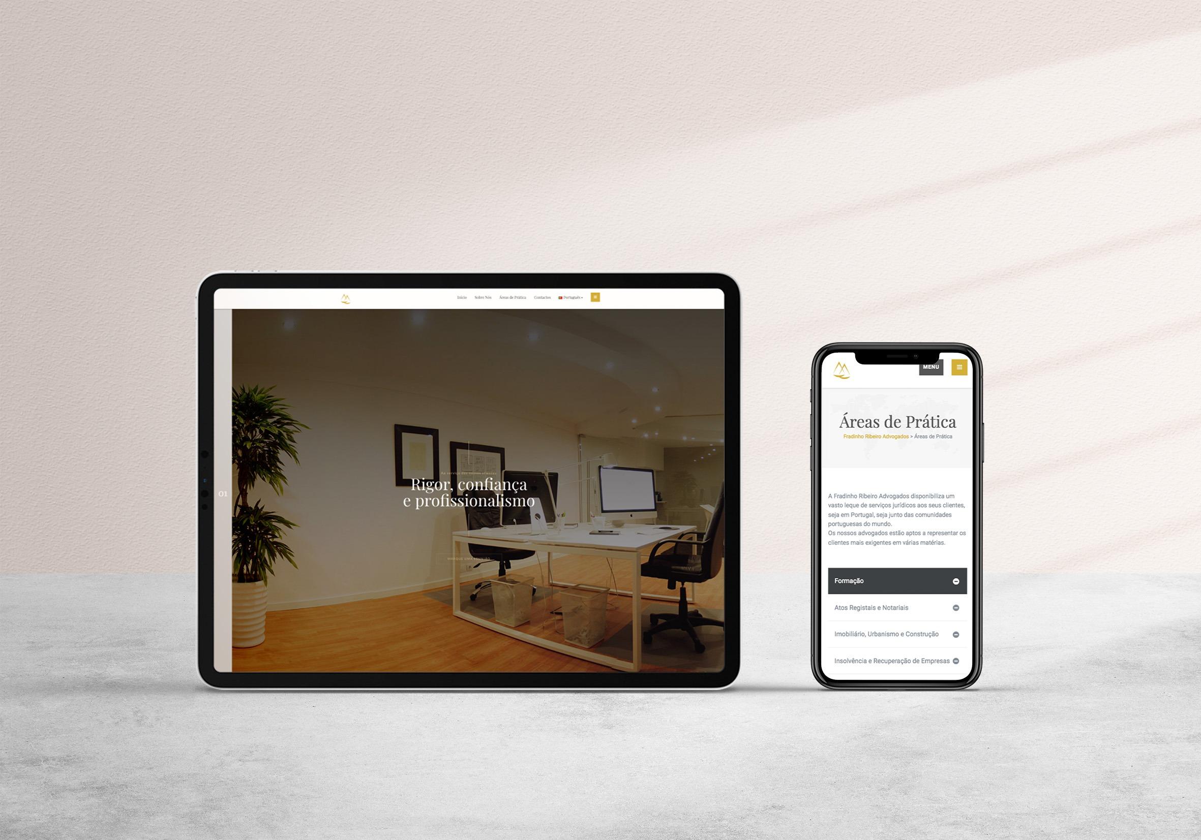 webdesign website fradinho advogados