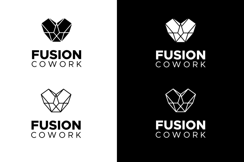branding desenvolvimento de logotipo fusion cowork