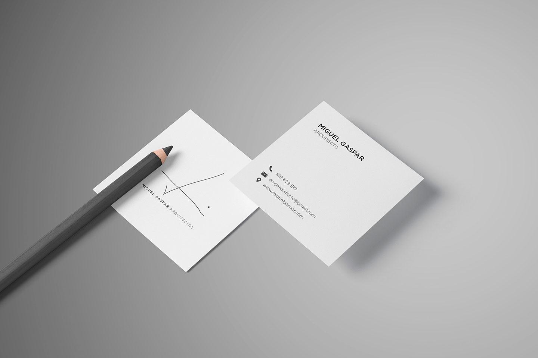 branding desenvolvimento de cartao de visita miguel gaspar arquitectos