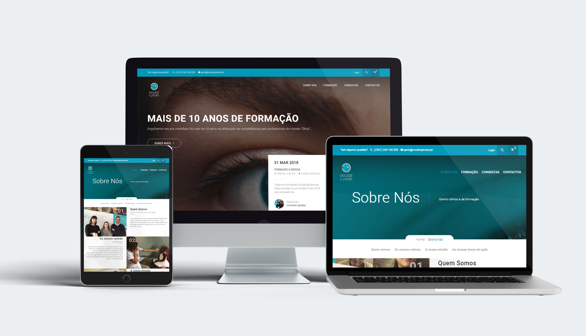 webdesign website oculareyecare